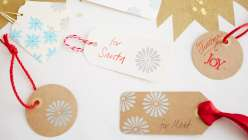 Stamped and Embossed Christmas Gift Tags