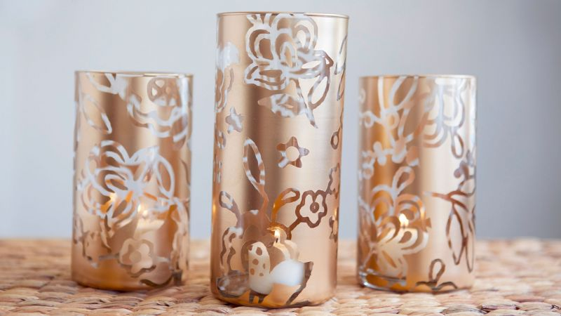 Cricut Crafts Make Stenciled Vases By Courtney Cerruti