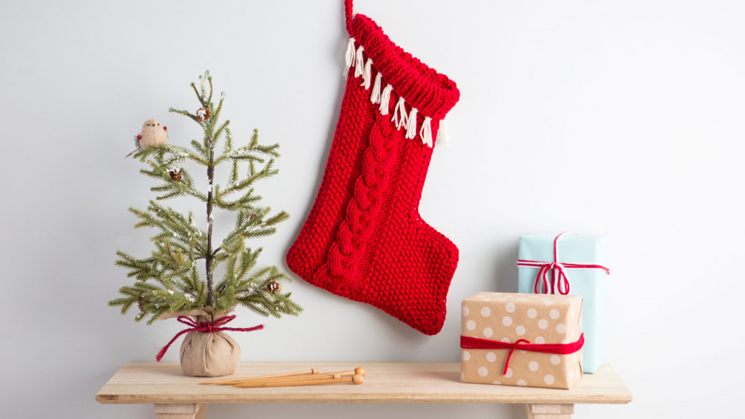 Cabled Christmas Stocking by Marly Bird online class