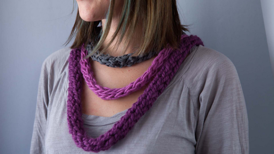 Finger Knitting by Amelia Strader