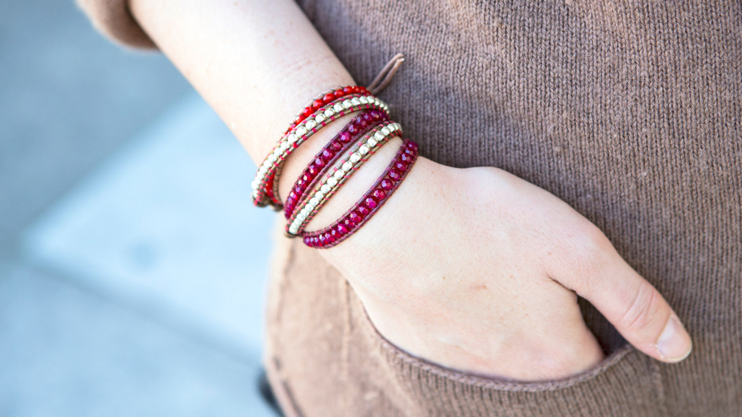 Leather Wrap Bracelet by Melanie Falick