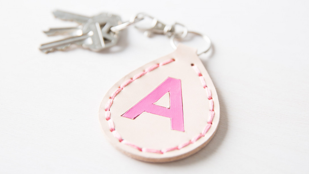 Cricut Crafts Monogrammed Leather Keychain By Amber Of