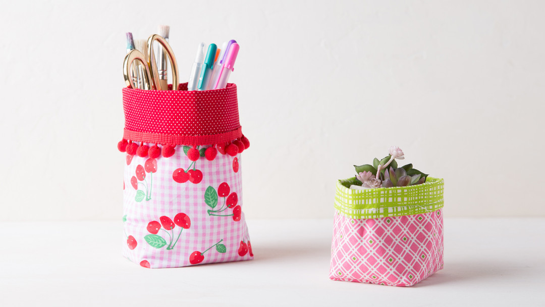 Sew a Fabric Basket by Amber of Damask Love