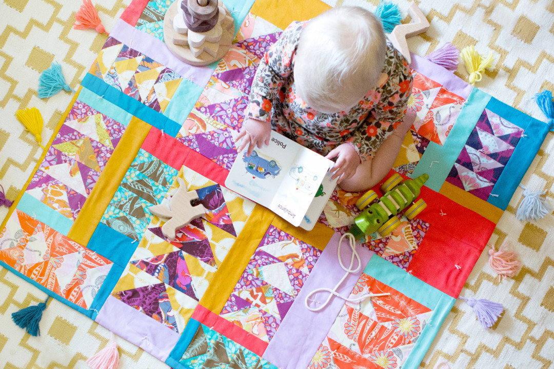 0ea26cb7d997 Flying Gosling Baby Quilt by Anna Maria Horner - Creativebug