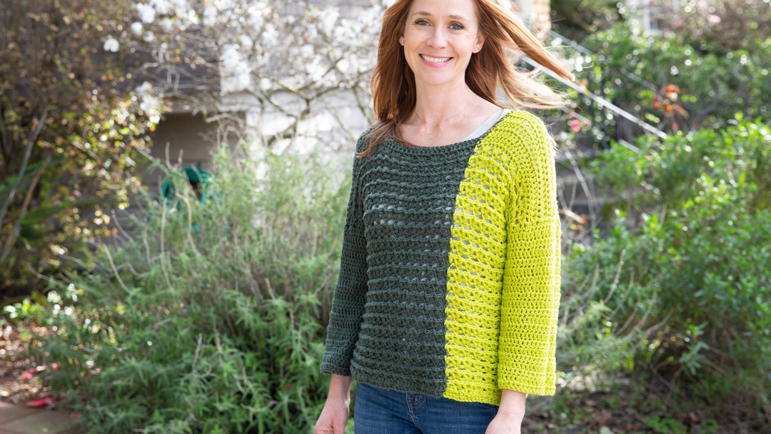 Crochet Colorblocked Sweater by Marly Bird