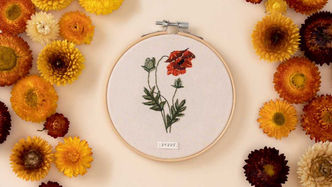 Thread Painting: Embroider Spring Blooms by Anna Hultin of OlanderCO Embroidery