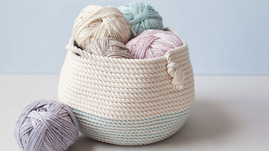 Stitched Rope Basket By Nicole Blum Creativebug