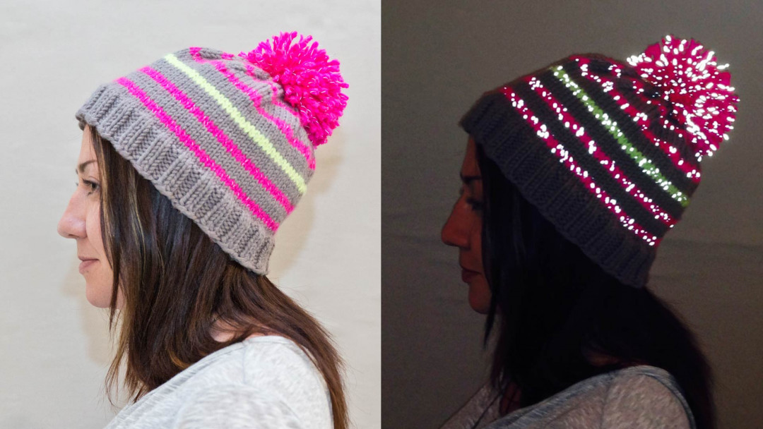 Knit a Reflective Hat by Maggie Pace