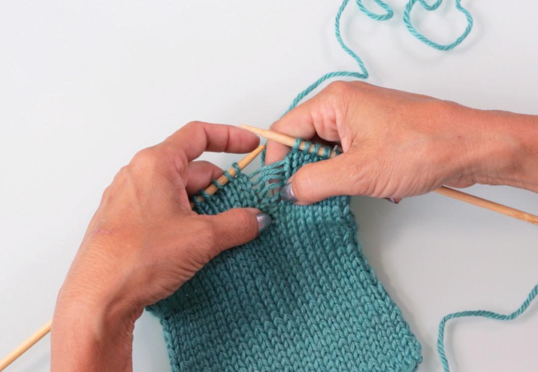 Picking Up Dropped Stitches Knitting Stockinette : Picking Up Dropped Stitches by Debbie Stoller - Creativebug