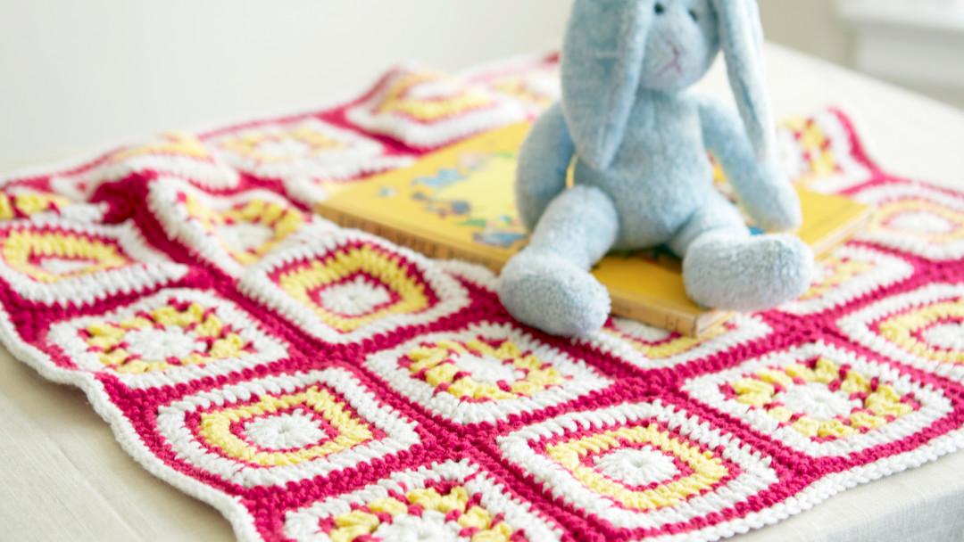 Granny Squares Baby Blanket by Edie Eckman