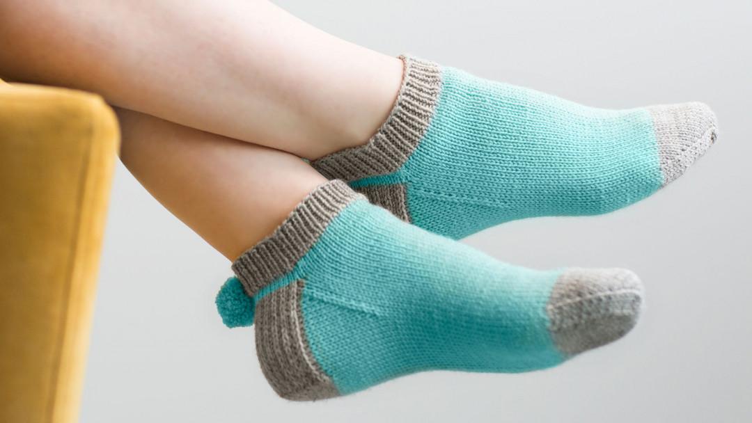 Knitted Pom Pom Socks By Wendy Bernard Creativebug
