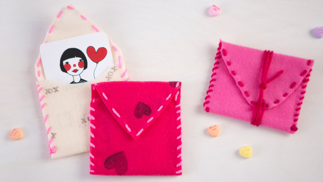 Stamped and Sewn Valentine's Pouches by Courtney Cerruti