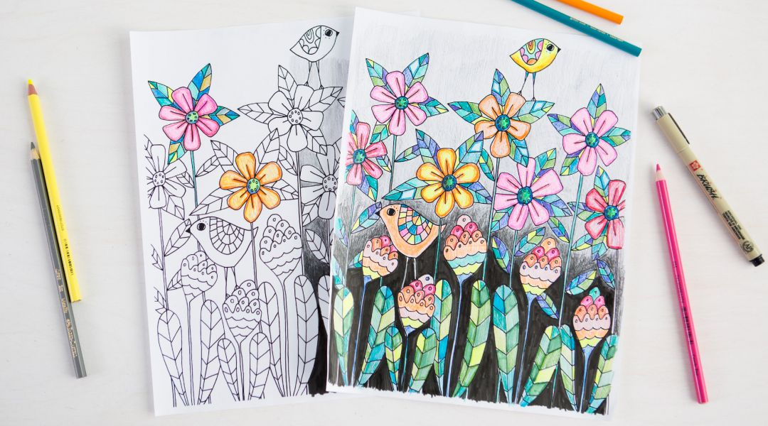 30 Coloring Pages with Courtney Cerruti, Lisa Congdon and Pam ...