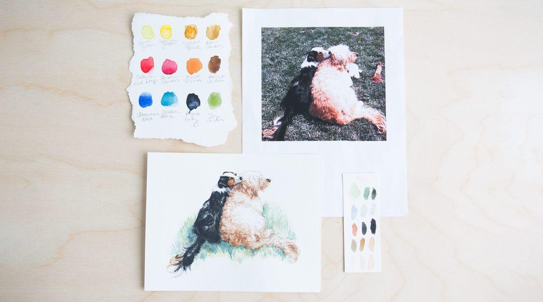 Painting Watercolor Pet Portraits