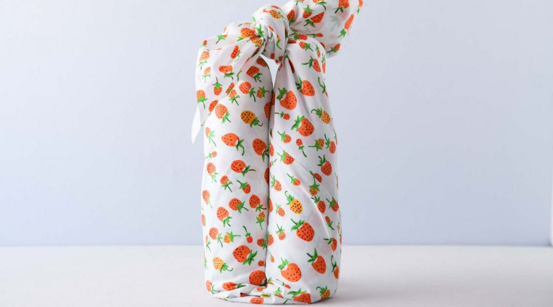 Furoshiki Wine Wrap