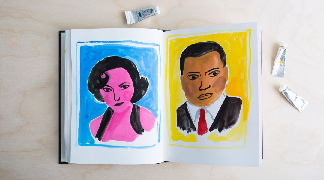 Illustrative Painting with Gouache