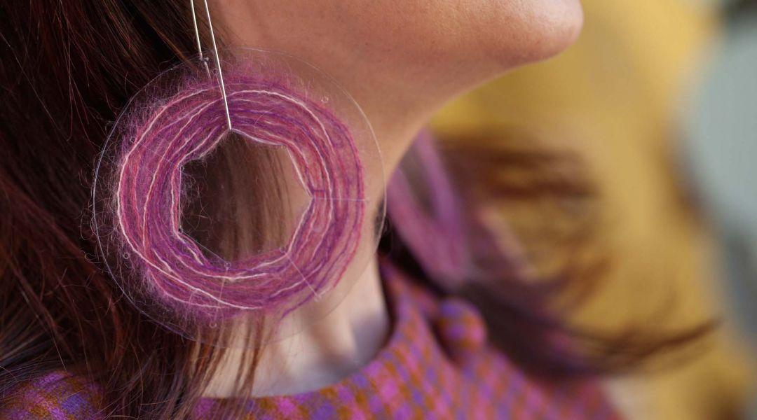 Yarn Scrap Earrings
