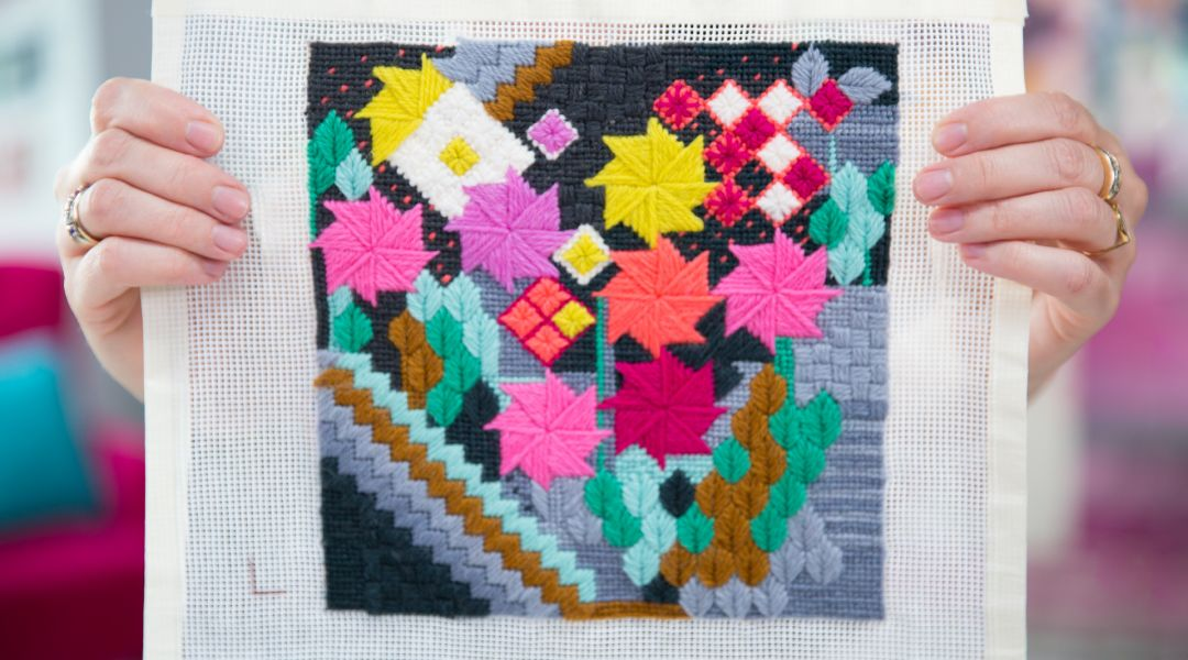 Free-form Needlepoint Sampler