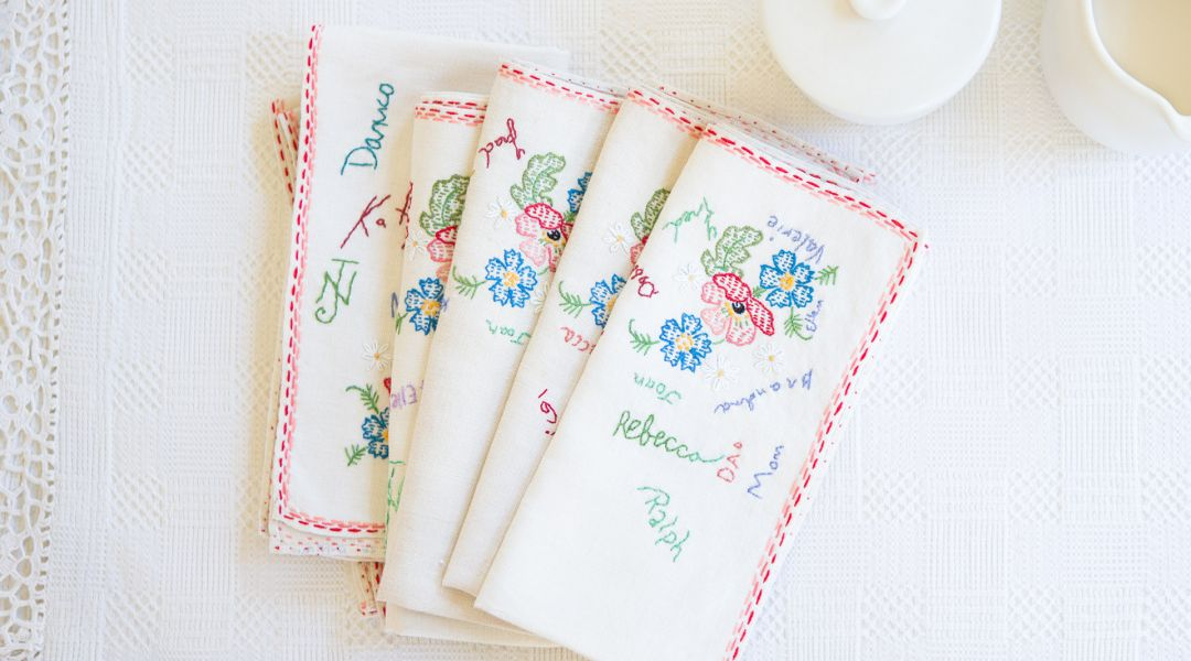 Embroidered Heirloom Napkins
