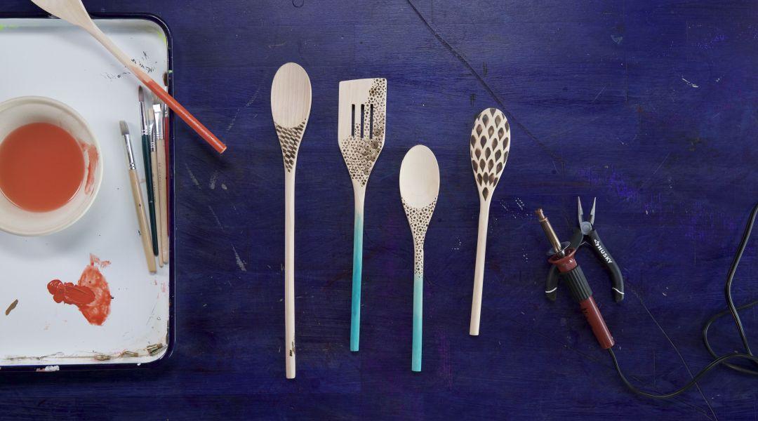 Wood Burned Spoons: 5/23/17