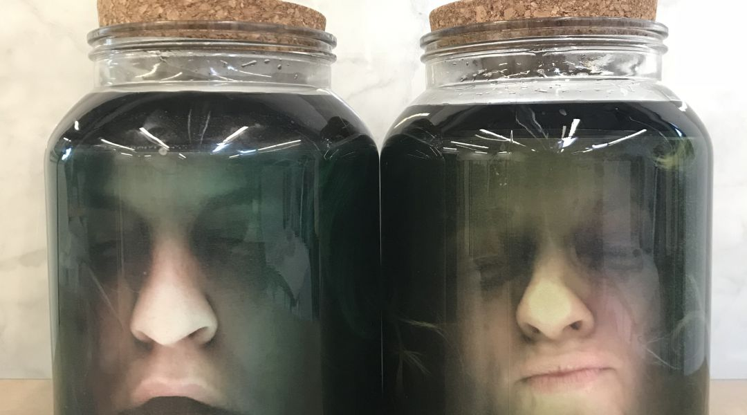 Spooky Heads in Jars: 10/31/17
