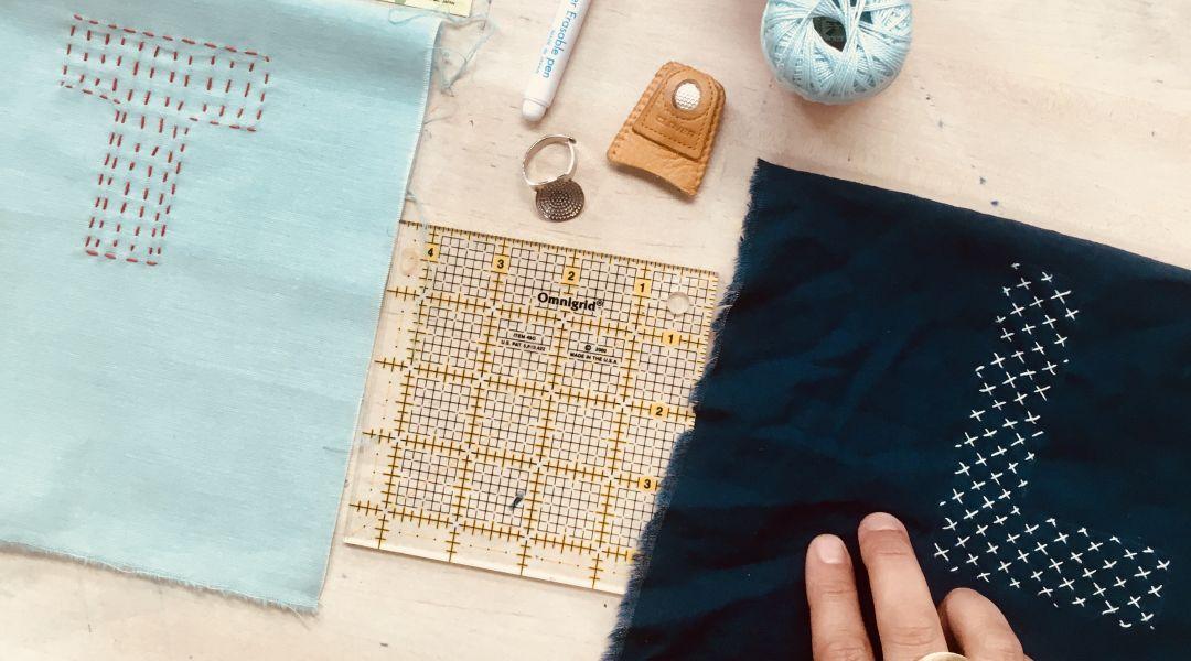 Sashiko Stitched Monograms: 11/2/17