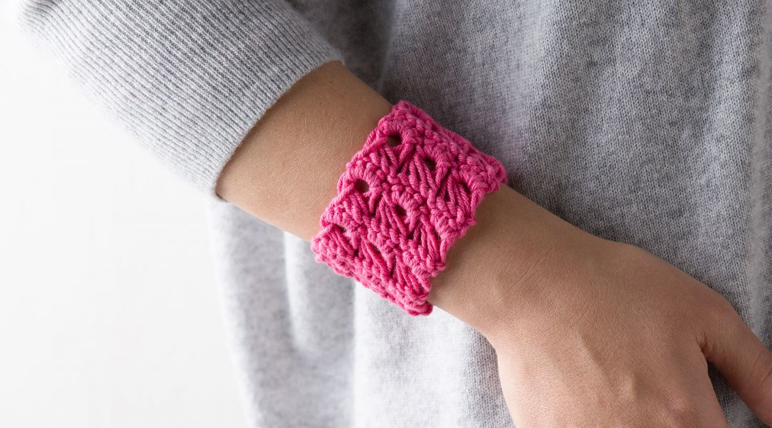 Crocheted Broomstick Lace Bracelet By Marly Bird Creativebug