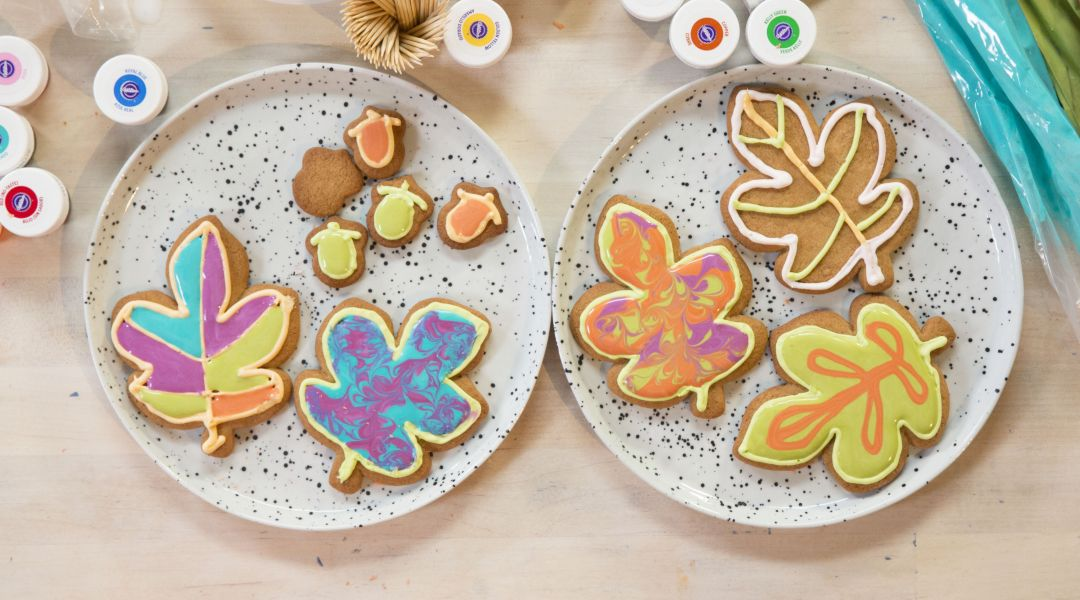 Iced Fall Cookies: 11/16/17