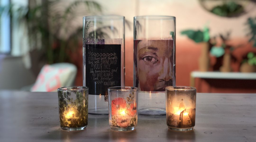 Image Transfer Votives 9/6/18