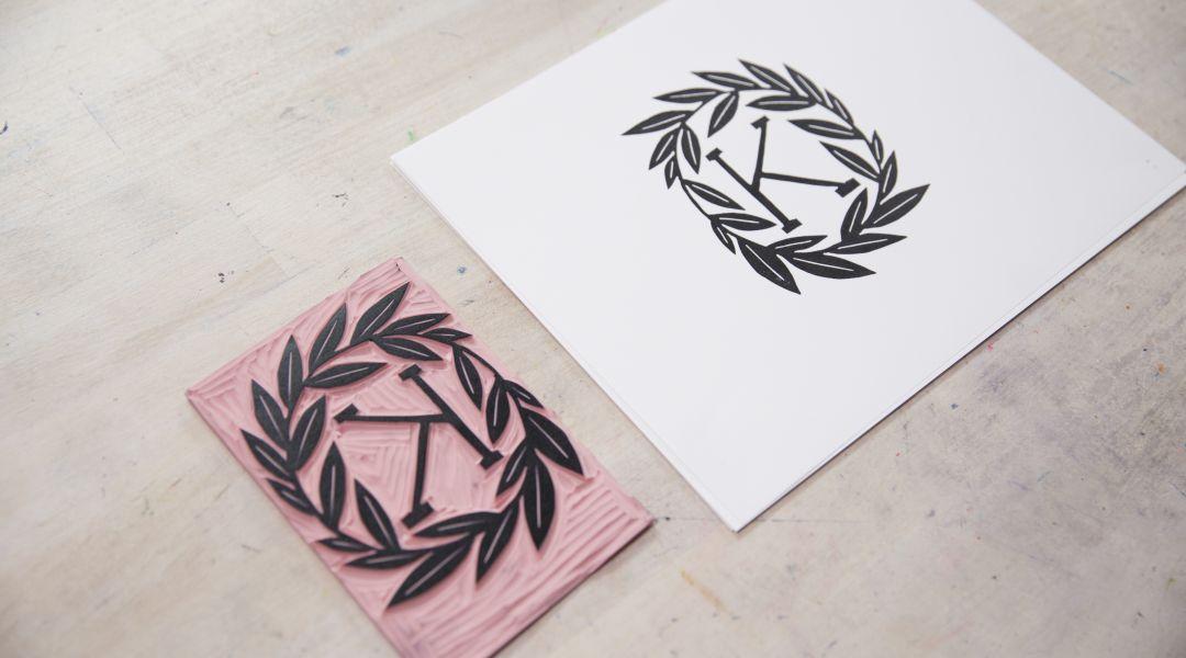 Block Printed Monogram: 5/23/19