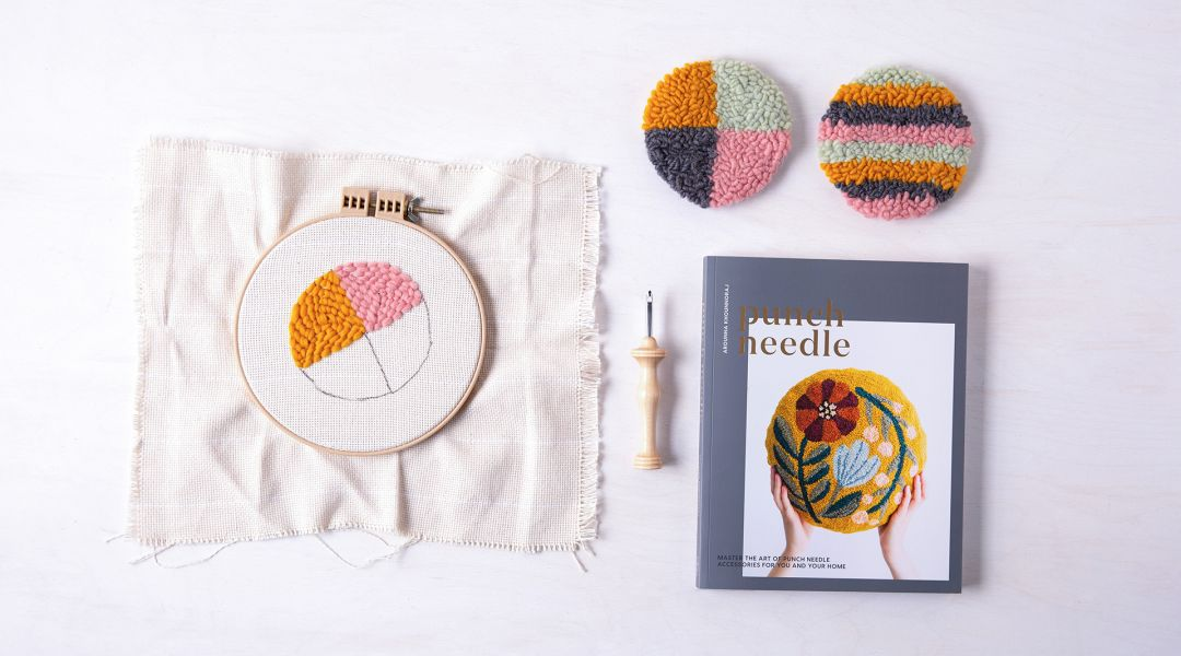 Punch Needle Coasters: 6/13/19