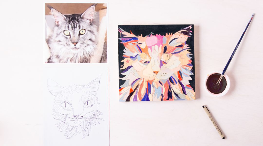 Doodle and Paint an Animal Portrait