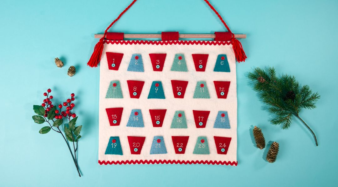 Sew an Advent Calendar using EZ Quilting Templates