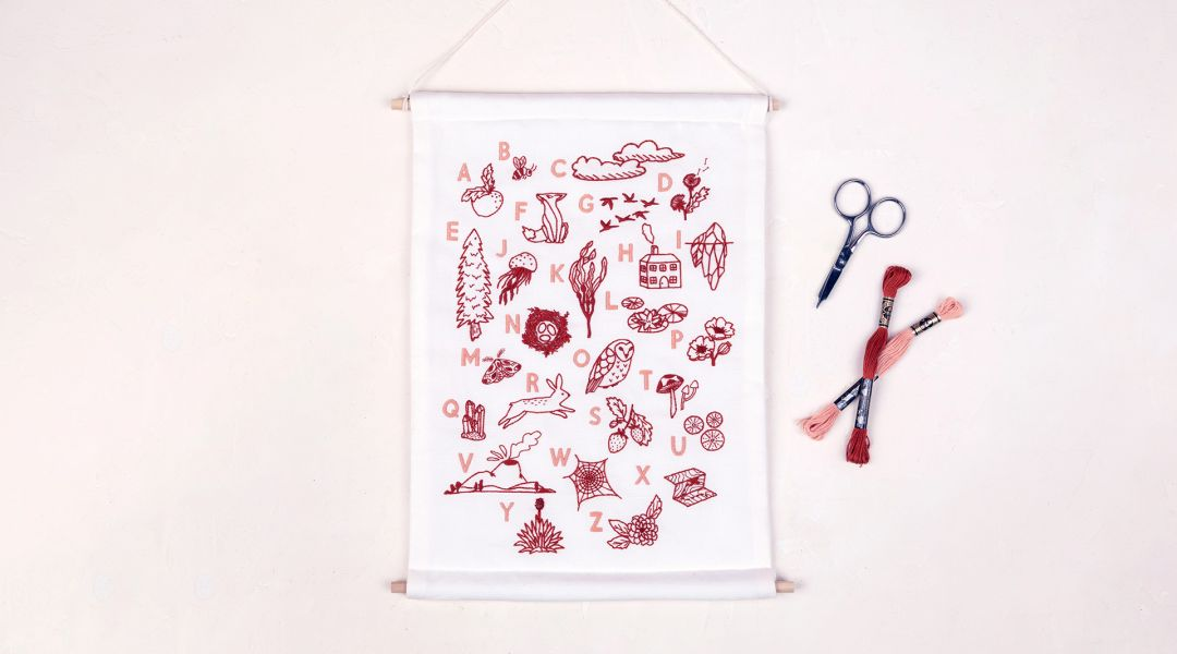 Embroidered ABC Wall Hanging: A Daily Practice