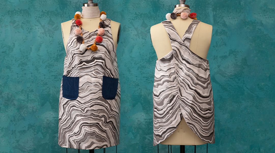 Sew a Reversible Apron Dress with Pockets