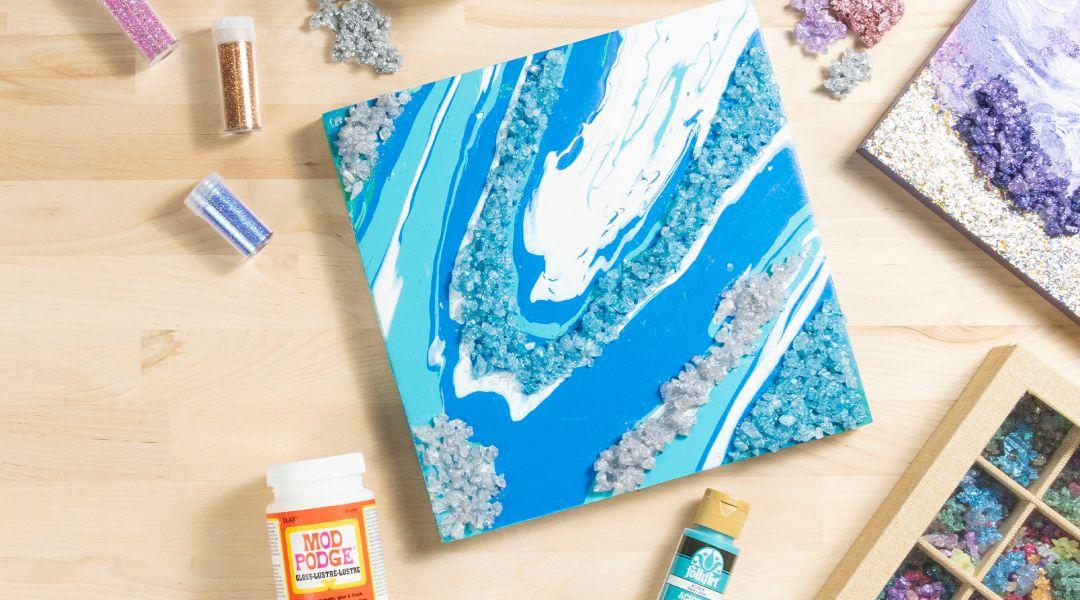 Make Resin Geodes