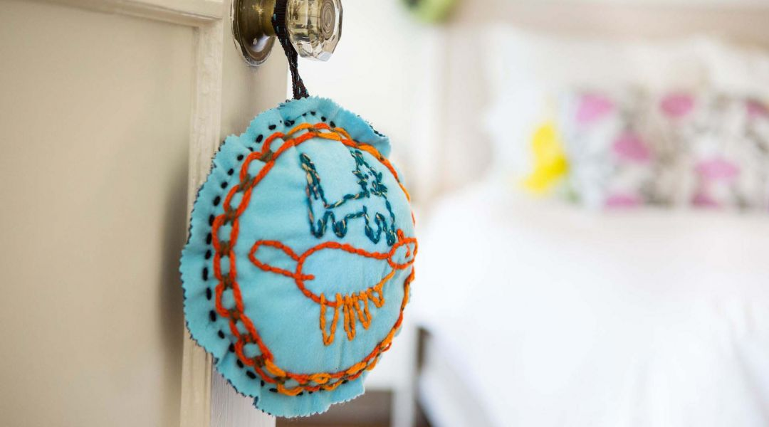 Kids Embroidered Pillow