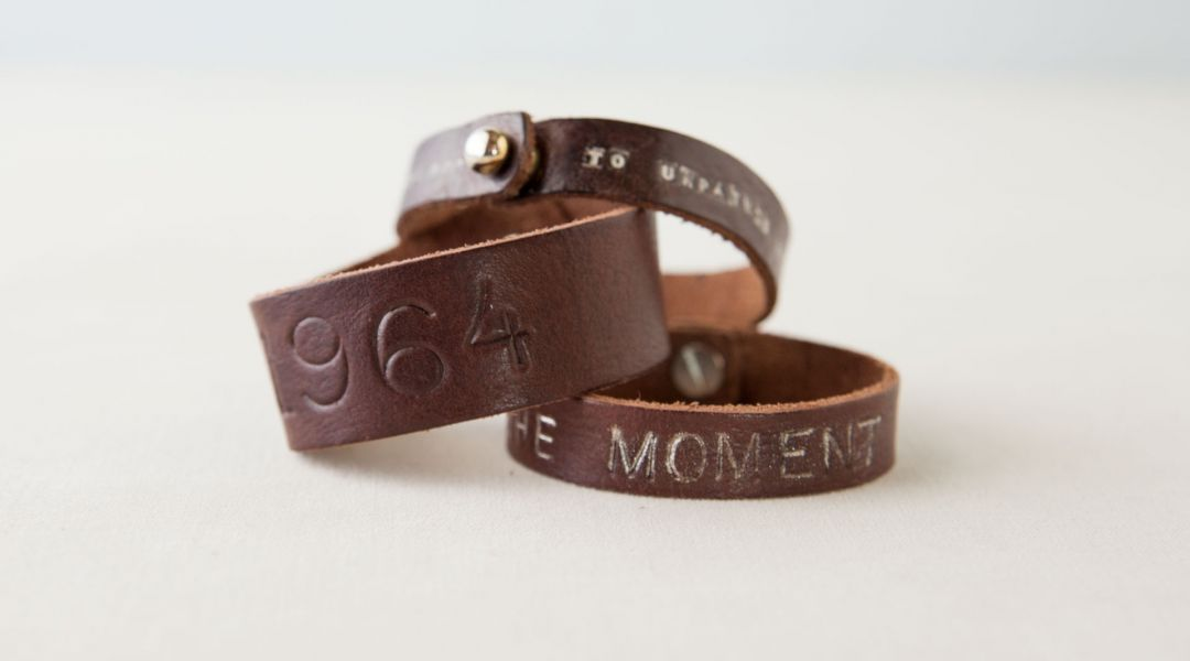 Stamped Leather Bracelet
