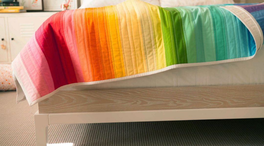 Rainbow Jelly Roll Quilt Top By Heather Jones Creativebug