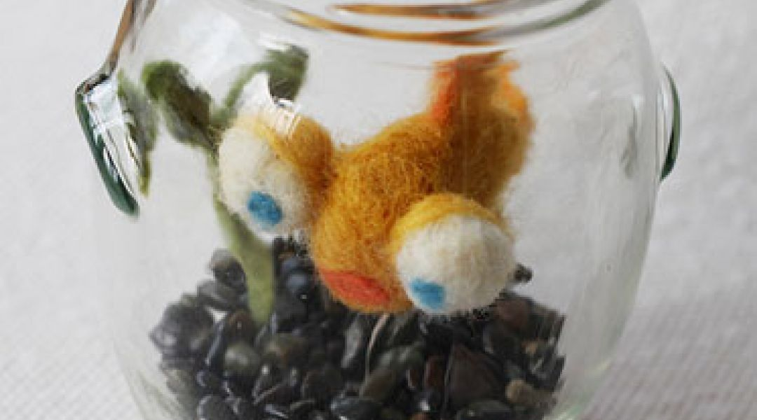 Needle Felted Goldfish