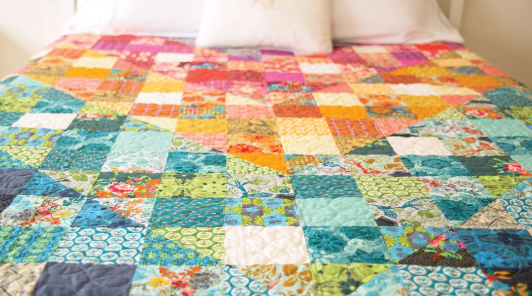 Color Dive Half Square Triangle Quilt By Anna Maria Horner Creativebug