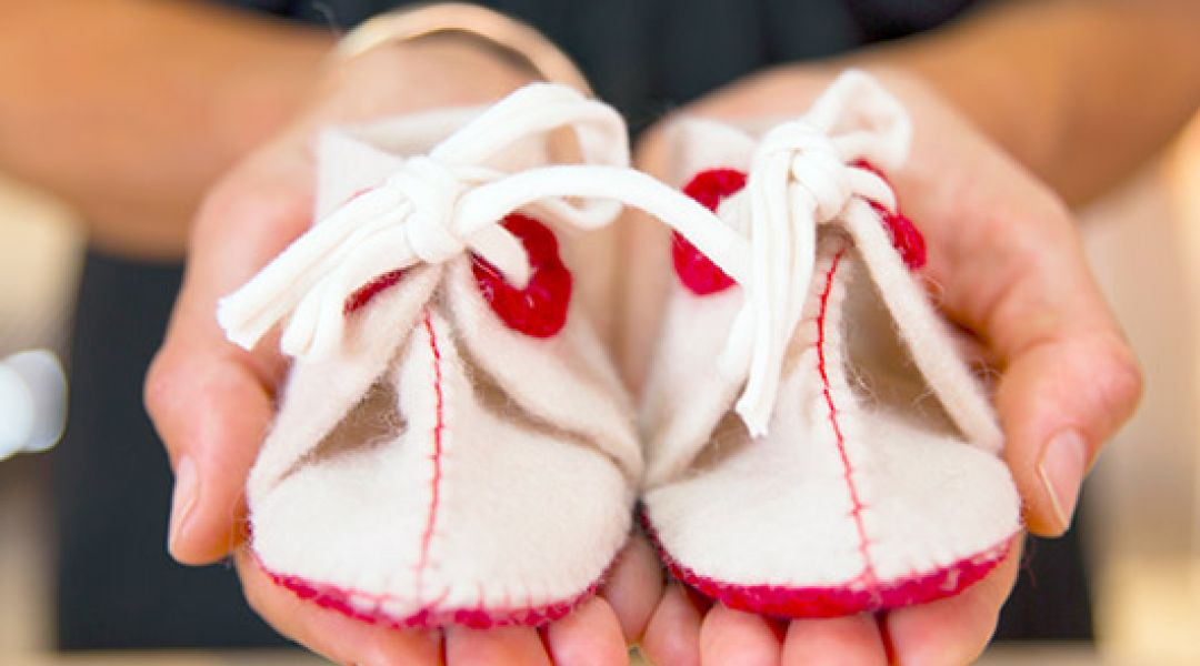 Hand Sewn Felt Baby Booties