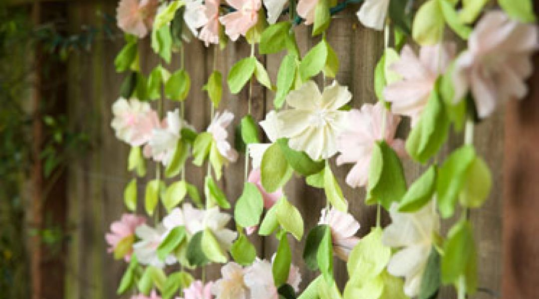 Paper Wedding Crafts Make A Flower Garland Backdrop By Lia Griffith