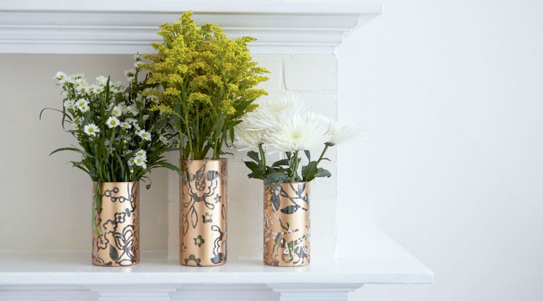 Cricut Crafts: Make Stenciled Vases
