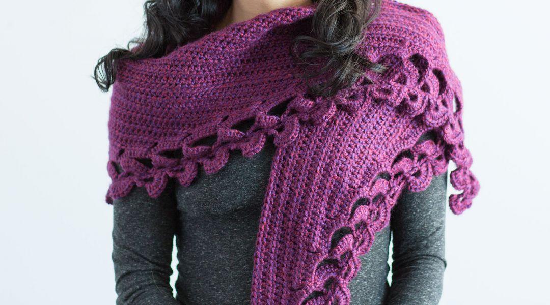 Crochet Shawl Workshop Crescent Shawl By Marly Bird Creativebug