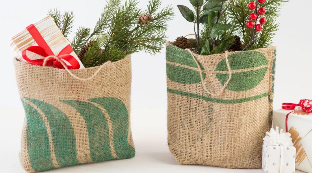 Sew Burlap Gift Bags