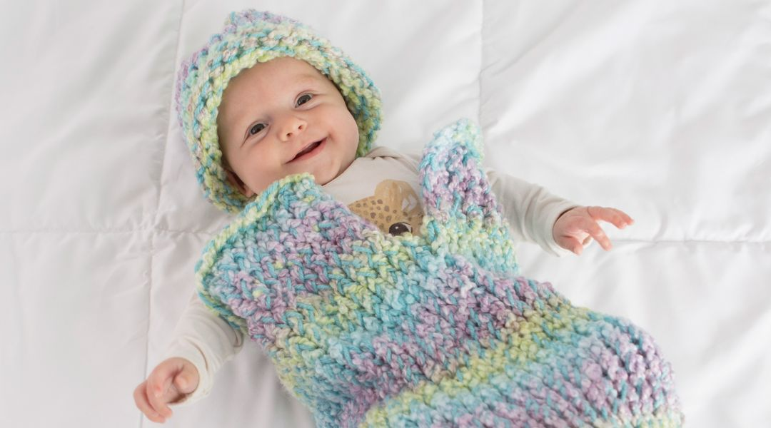 Loom Knitting Patterns For Babies : Loom Knitting: Make a Baby Cocoon by Michele of Simplicity - Creativebug