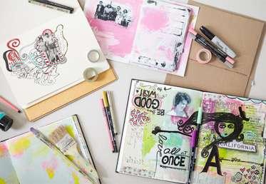 How to make a blank art journal by dawn devries sokol creativebug home classes art design mixed mediahow to make a blank art journal ccuart Images