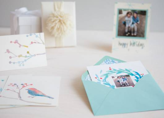 How to Make Watercolor Holiday Cards