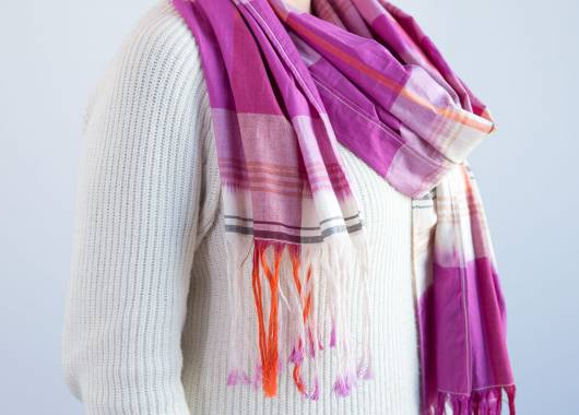 Make a Fringed Scarf